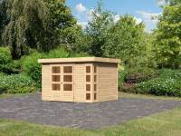 Karibu Woodfeeling Gartenhaus Kerko 5 natur 19 mm