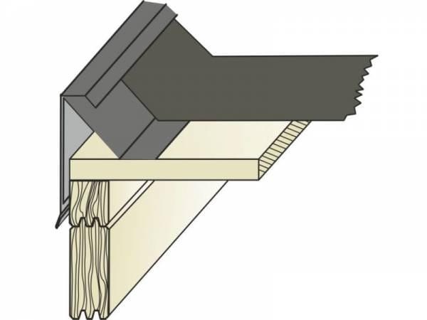 EPDM Flachdachblende Typ 10 bestehend aus Außen- und Innenprofil - 1 Stück