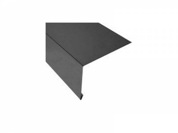 Aluminium Rinneneinhang 200 cm, Typ 8 für Dachtraufe/Dachrinne anthrazit-grau - 11 Stück
