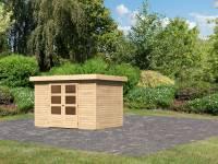 Karibu Woodfeeling Gartenhaus Askola 4 natur 19 mm
