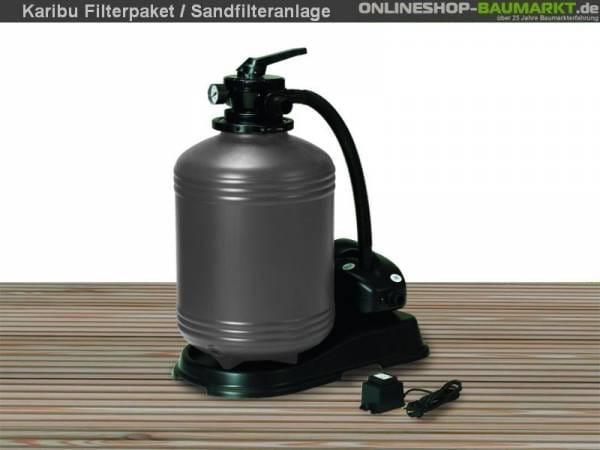 Karibu Filterpaket Sandfilteranlage für Pools