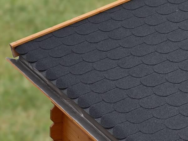 Karibu Dachschindeln Biberschwanz schwarz