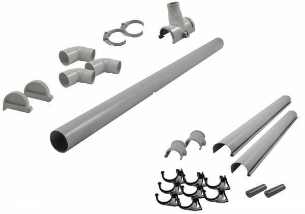 Karibu graue PVC-Dachrinne für Flachdach bis 265 cm