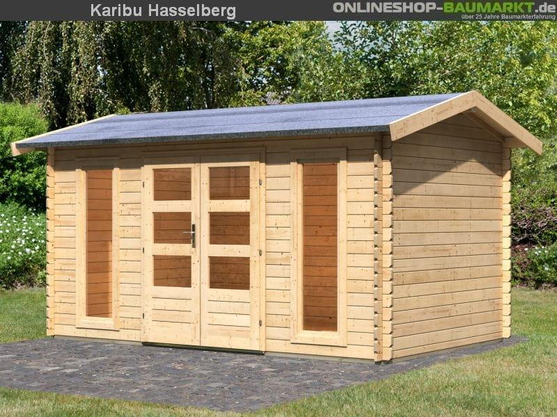 Karibu Gartenhaus Hasselberg Blockbohle 28mm