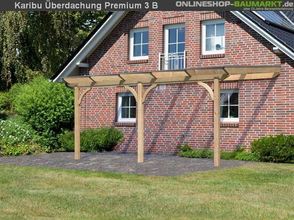 Karibu Terrassenüberdachung Premium Modell 3 Gr. B