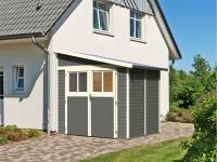 Karibu Gartenhaus Bomlitz 2 terragrau 19 mm