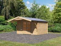 Karibu Gartenhaus Bayreuth 5 mit Vordach