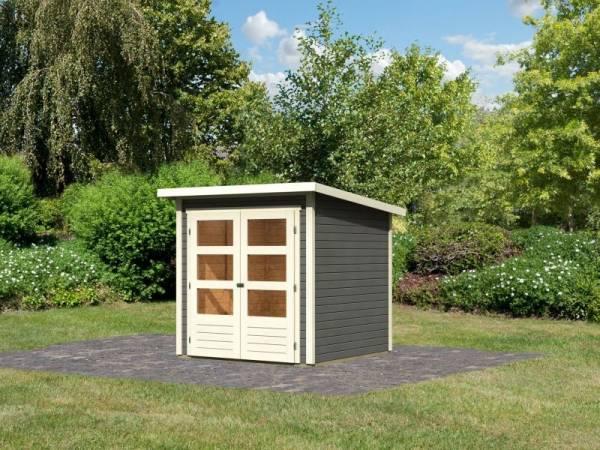 Karibu Woodfeeling Gartenhaus Stockach 2 terragrau
