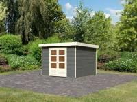Karibu Woodfeeling Gartenhaus Askola 6 terragrau 19 mm
