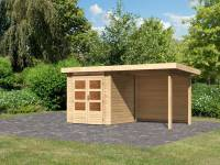Karibu Woodfeeling Gartenhaus Kandern 1 mit Anbaudach 2,60 m inkl. Rückwand