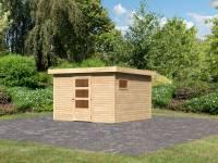 Karibu Woodfeeling Gartenhaus Oburg 6 natur 19 mm