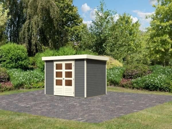 Karibu Woodfeeling Gartenhaus Askola 5 terragrau 19 mm