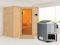 Sahib 1 - Karibu Sauna inkl. 9-kW-Bioofen - ohne Dachkranz -