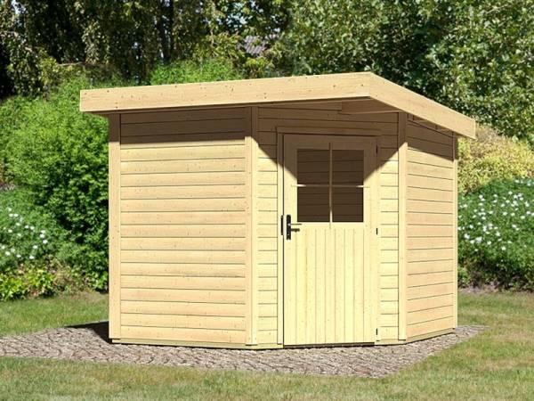 Karibu Woodfeeling Gartenhaus Neuruppin 2 natur 28 mm