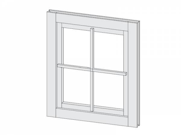 Karibu Fenster für 38 mm elfenbeinweiß