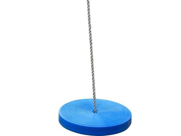 Akubi Schaukelscheibe blau mit Seil
