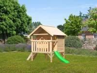 Akubi Spielhaus Mini Sparset mit grüner Rutsche