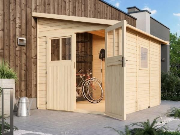 Karibu Gartenhaus Bomlitz 3 natur 19 mm