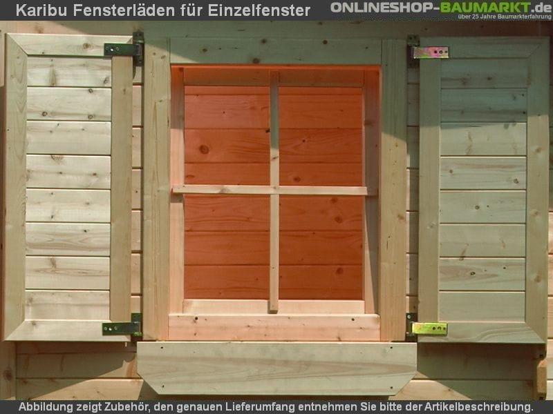 karibu fensterl den f r einzelfenster natur naturbelassen 9077. Black Bedroom Furniture Sets. Home Design Ideas