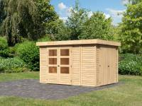 Karibu Woodfeeling Gartenhaus Retola 4 inkl. Anbauschrank