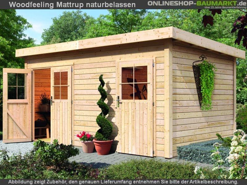 karibu gartenhaus mattrup 2 raum natur 28 mm. Black Bedroom Furniture Sets. Home Design Ideas