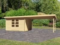 Karibu Woodfeeling Gartenhaus Bastrup 7 mit Schleppdach 4 Meter