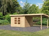 Karibu Woodfeeling Gartenhaus Kandern 6,5 mit Anbaudach 3 Meter