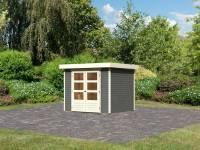 Karibu Woodfeeling Gartenhaus Askola 3 terragrau 19 mm