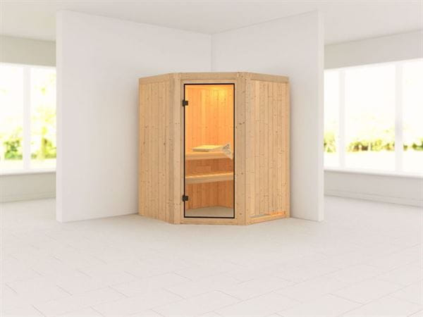 Asmada - Karibu Sauna ohne Ofen - mit Rundbogen -