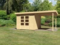 Karibu Woodfeeling Gartenhaus Kandern 6 mit Anbaudach 2,35 Meter