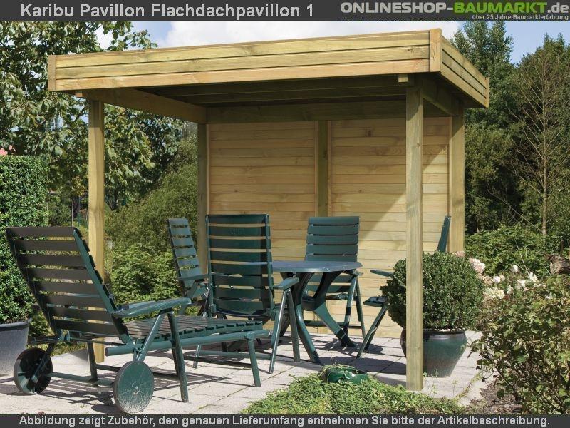 karibu 4 eck pavillon eco flachdachpavillon 1 kompakter. Black Bedroom Furniture Sets. Home Design Ideas
