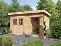 Karibu Gartenhaus Tintrup 2-Raum-Haus natur 28 mm
