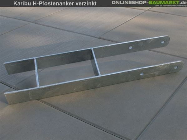 Karibu H-Pfostenanker 9 x 9 x 60 cm 1 St.