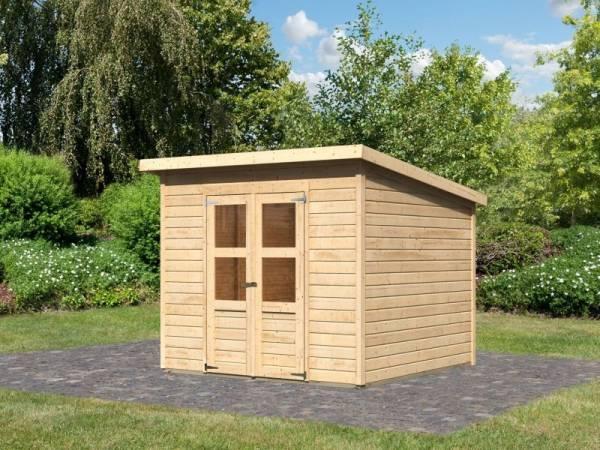 Karibu Gerätehaus Merseburg 6 natur 14 mm