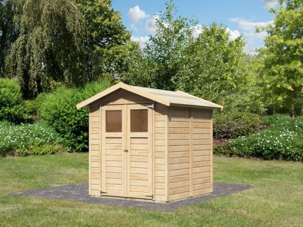 Karibu Gerätehaus Dahme 3 natur 14 mm