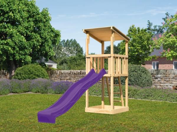 Akubi Spielturm Anna + Rutsche violett