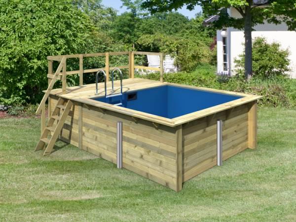 Karibu Rechteck Pool Größe 1 inkl. Terrasse 3,5 m