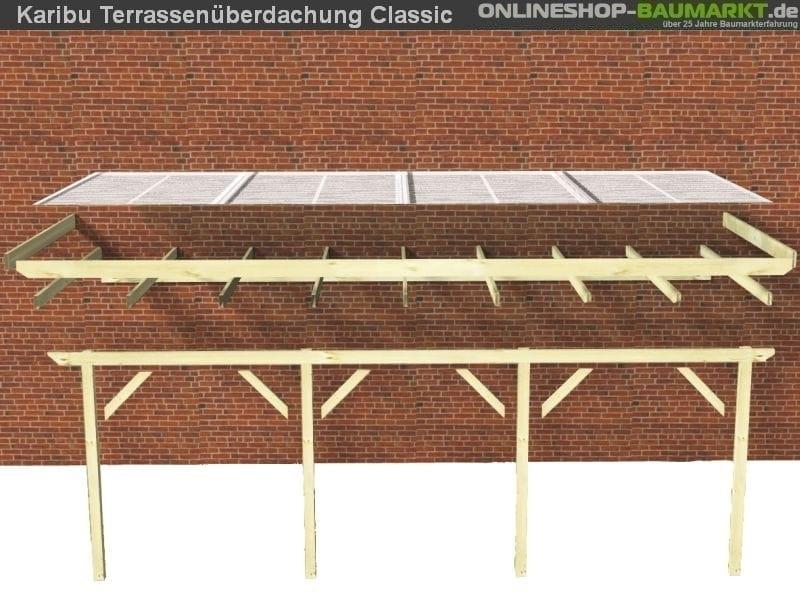 karibu terrassen berdachung classic modell 1 gr b. Black Bedroom Furniture Sets. Home Design Ideas