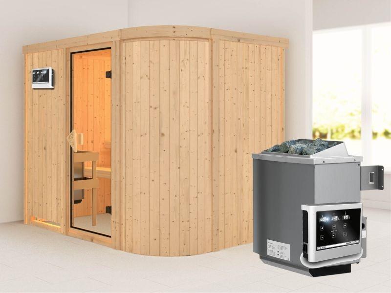 Titania 4 - Karibu Sauna inkl. 9-kW-Ofen