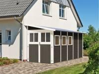 Karibu Gartenhaus Wandlitz 5 terragrau 19 mm
