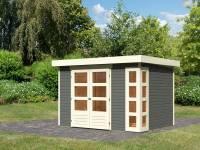 Karibu Woodfeeling Gartenhaus Kerko 4 in terragrau 19 mm