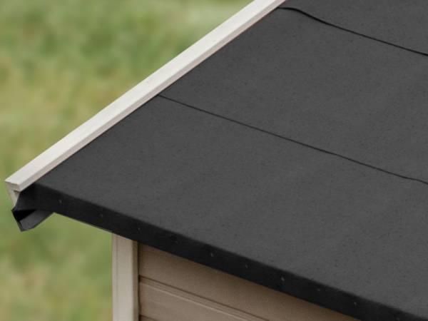 Karibu selbstklebende Bitumendachbahn schwarz 2,5 qm für Satteldachhäuser