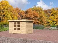 Karibu Aktions-Gartenhaus Jever 4 natur inkl. Fußboden und Dacheindeckung