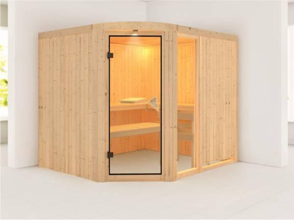 Lakura - Karibu Sauna ohne Ofen - mit Rundbogen -