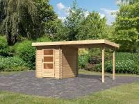 Karibu Gartenhaus Bastrup 1 mit Anbaudach 2 Meter