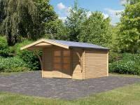 Karibu Gartenhaus Bayreuth 4 mit Vordach