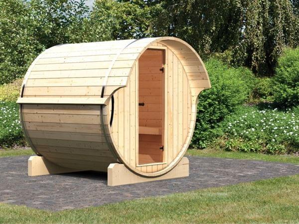 Karibu Fass - Sauna 1 42 mm ohne Ofen - Saunahaus