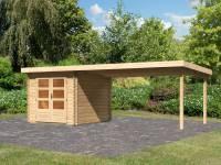 Karibu Woodfeeling Gartenhaus Bastrup 4 mit Schleppdach 4 Meter