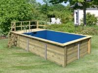 Karibu Rechteck Pool Größe 3 inkl. Terrrasse 3,5 m