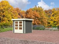 Karibu Aktion-Gartenhaus Jever 2 terragrau 19 mm